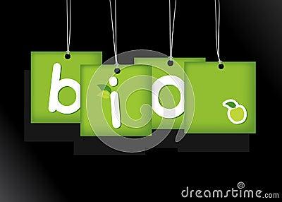 Bio hanging cards.