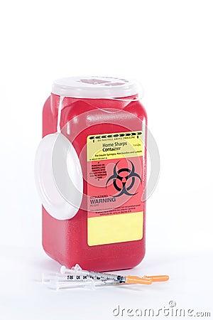 Free Bio-Hazard Container Stock Image - 18059661