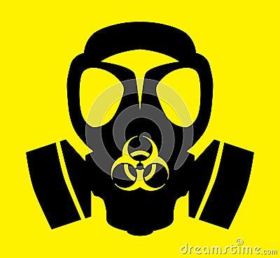 Bio hazard gas mask symbol