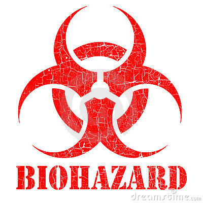 Bio hazard stamp illustration