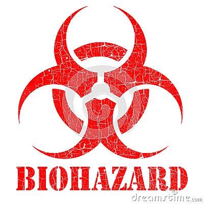 Bio hazard stamp illustration