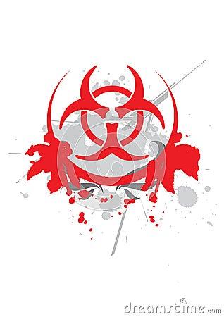 Bio hazard symbol - vector