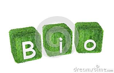 Bio-logo isolated on white background