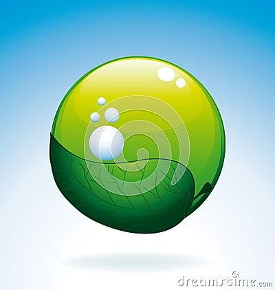 Bio oxygen icon