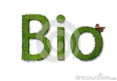 Bio text on white
