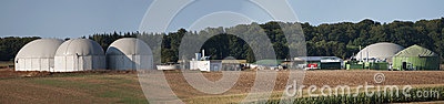 Biogas plant.