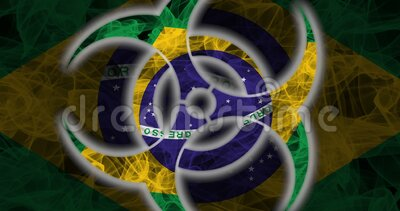 Biohazard Brasil, Biohazard from Brasil, Brasil Quarantine stock video footage