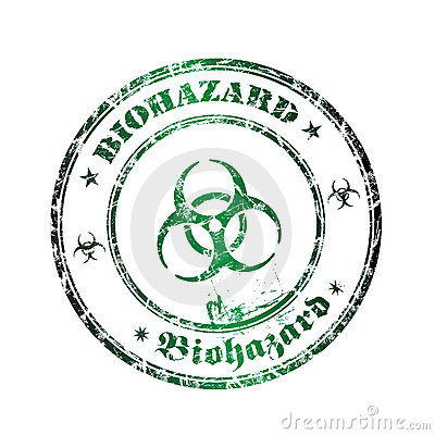 Free Biohazard Rubber Stamp Royalty Free Stock Photos - 8075528