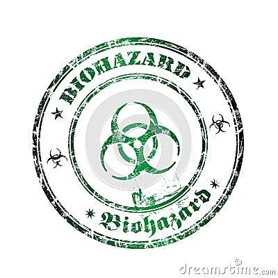 Biohazard rubber stamp