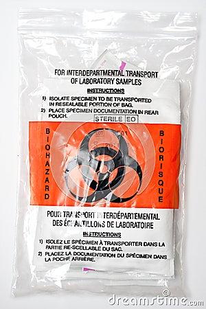 Biohazard sample bag