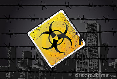 Biohazard Street Sign
