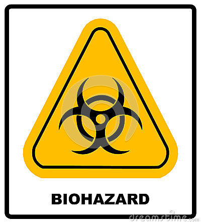 Free Biohazard Symbol Sign Of Biological Threat Alert, Black Yellow Triangle Signage Text, Isolated Stock Image - 78480811