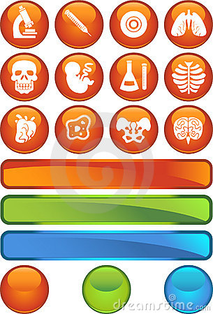 Free Biology Icon Set - Web Button Series Stock Photo - 9292690