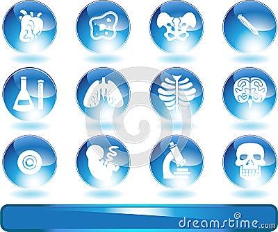 Biology Web Buttons Set