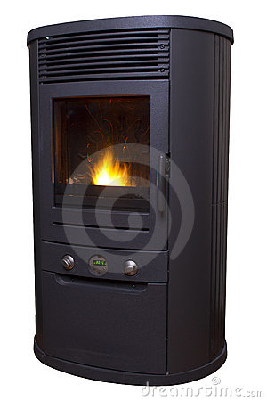 Biomass Pellet Heater Isolated