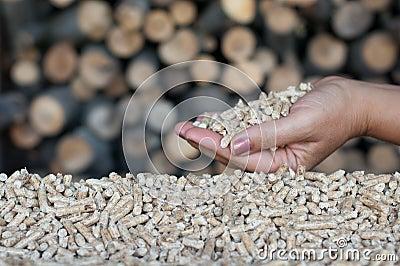 Biomasse de boulettes