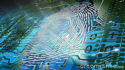 Biometric fingerprint-based identification