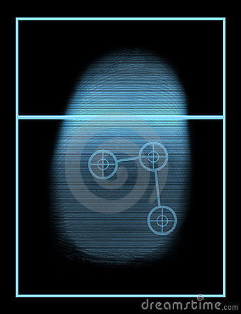 Free Biometric Thumb Scanner System Stock Image - 628271