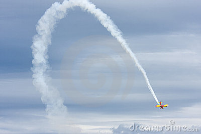 Biplane Act at Airshow Editorial Photography