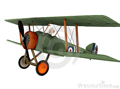 Biplane cartoon 2