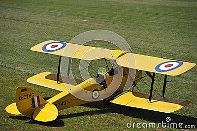 Biplane Tiger Moth Editorial Photography