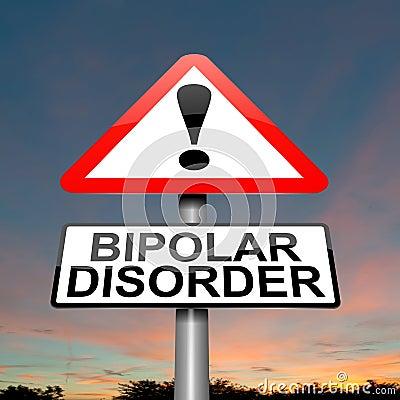 Bipolar disorder concept.