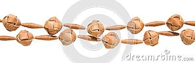 Birch bark beads