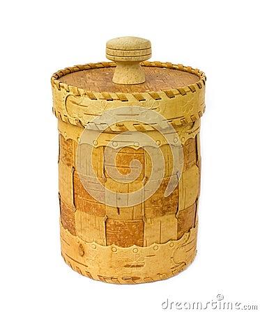 Free Birch Bark Box Royalty Free Stock Image - 9630226