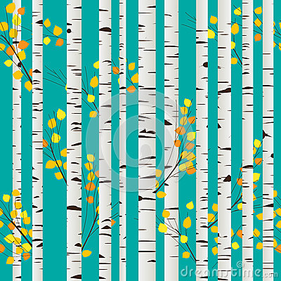 Birch forest pattern