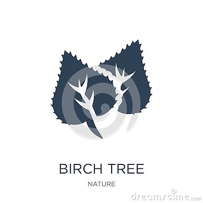 birch tree icon in trendy design style. birch tree icon isolated on white background. birch tree vector icon simple and modern Vector Illustration