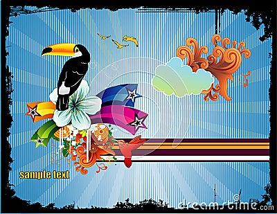 Bird abstract vector illustration