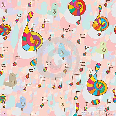 Free Bird And Music Seamless Pattern Royalty Free Stock Image - 118346156