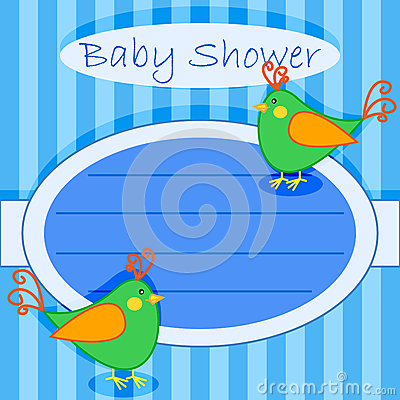 Bird baby shower invitation-boy