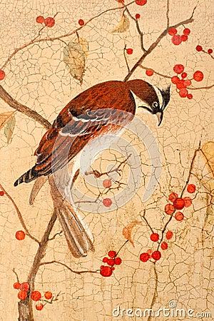 Bird on branches