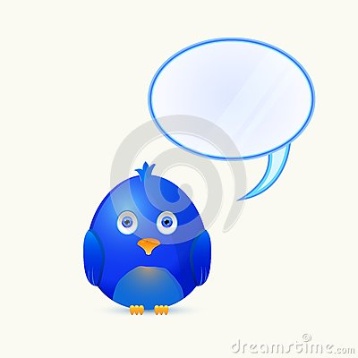 Bird with Bubble Chat Box