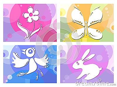 Bird-butterfly-flower-bunny