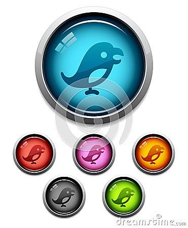 Bird button icon