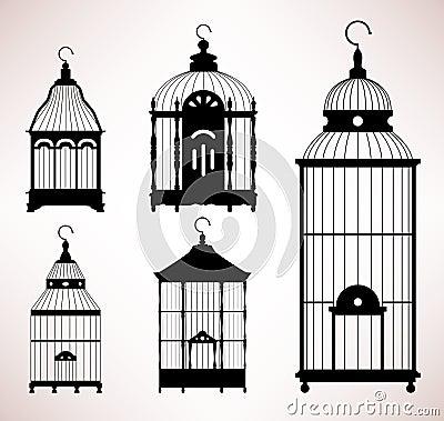 Bird Cage birdcage vintage retro silhouette