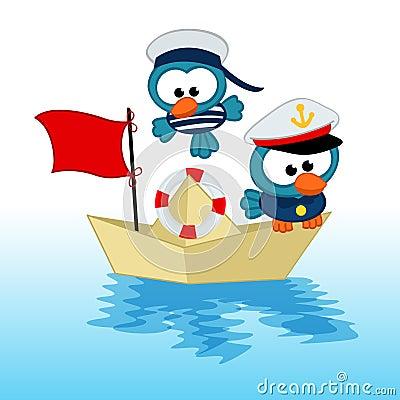 Free Bird Captain  And Sailor Royalty Free Stock Photography - 38791787