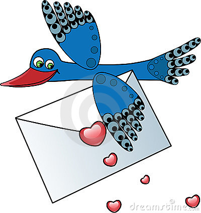 Bird Carrying a Love Letter