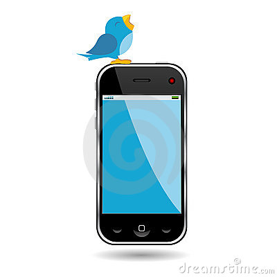 Bird and cell phone