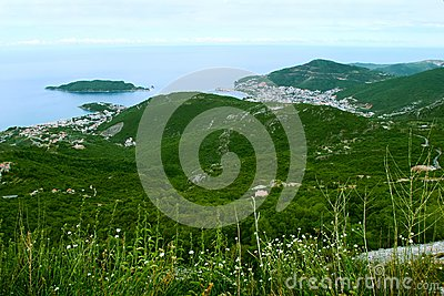 Bird-eye view on coastline