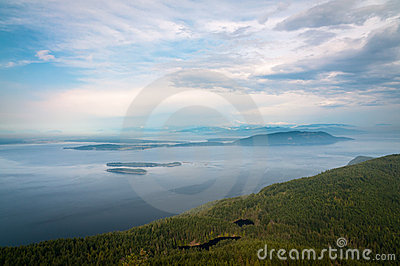 Bird-eye view of San Juan islands