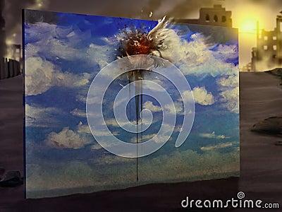 Bird Flew - Digital Painting
