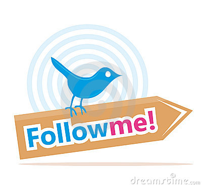 Bird with follow me sign Editorial Image
