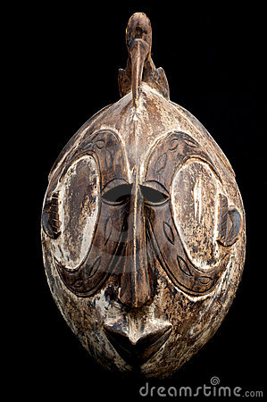 Bird head African mask