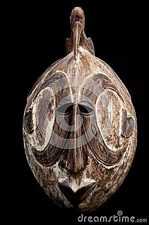 Bird head African mask