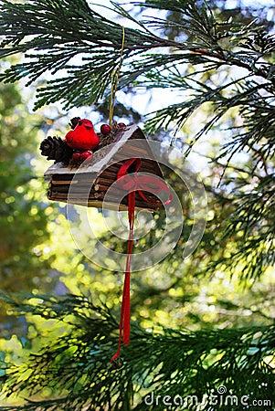 Bird House Ornament Background
