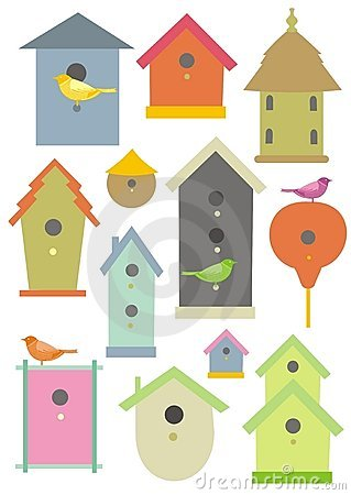 Free Bird Houses Royalty Free Stock Images - 8786119