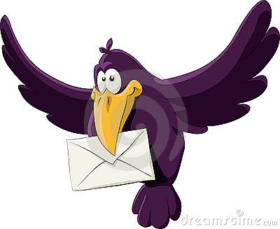 Bird with a letter